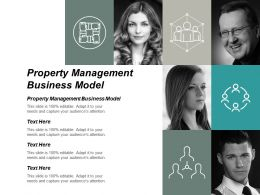 Property Management Business Model Ppt Powerpoint Presentation Portfolio Inspiration Cpb