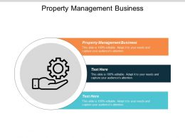 Property Management Business Ppt Powerpoint Presentation Gallery Outline Cpb