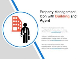 Property Management Icon With Building And Agent