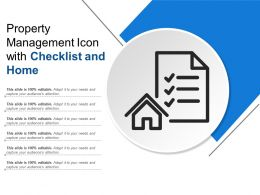 Property Management Icon With Checklist And Home
