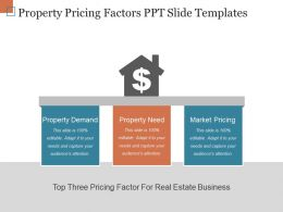 Property Pricing Factors Ppt Slide Templates