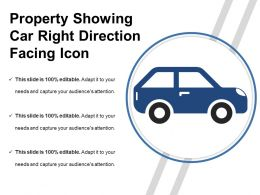 Property Showing Car Right Direction Facing Icon