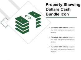 Property Showing Dollars Cash Bundle Icon
