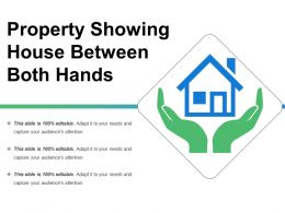 Property Showing House Between Both Hands