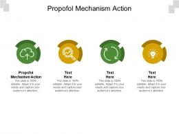 Propofol Mechanism Action Ppt Powerpoint Presentation Ideas Influencers Cpb