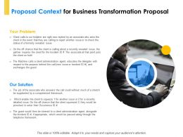 Proposal Context For Business Transformation Proposal Ppt Powerpoint Brochure