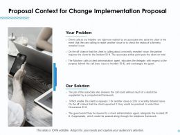 Proposal Context For Change Implementation Proposal Ppt Ideas Good