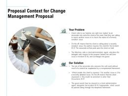 Proposal Context For Change Management Proposal Ppt Powerpoint Slide
