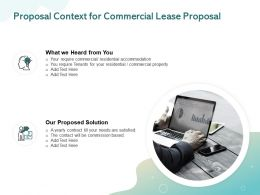 Proposal Context For Commercial Lease Proposal Ppt Powerpoint Presentation Pictures Ideas