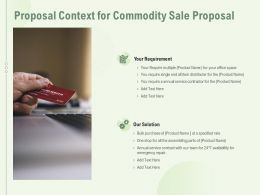 Proposal Context For Commodity Sale Proposal Ppt Powerpoint Presentation Examples
