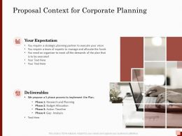 Proposal Context For Corporate Planning Ppt Powerpoint Presentation Layouts Show