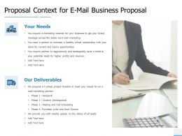 Proposal Context For E Mail Business Proposal Marketing Ppt Powerpoint Slides