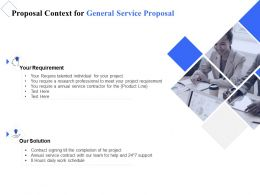 Proposal Context For General Service Proposal Ppt Powerpoint Presentation Layouts Graphics Template