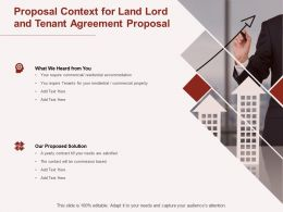 Proposal Context For Land Lord And Tenant Agreement Proposal Ppt Powerpoint Presentation Slide