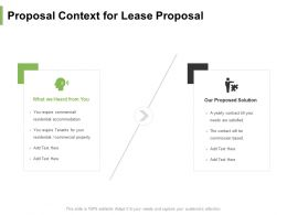 Proposal Context For Lease Proposal Ppt Powerpoint Presentation Portfolio Example