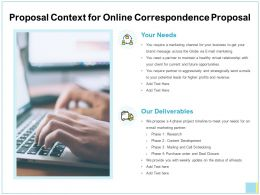 Proposal Context For Online Correspondence Proposal Ppt Show