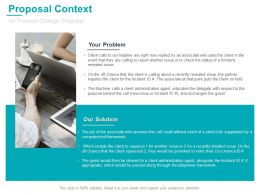 Proposal Context For Process Change Proposal Ppt Microsoft