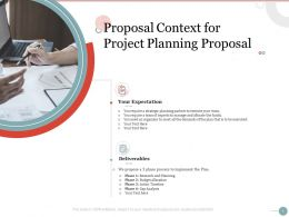 Proposal Context For Project Planning Proposal Ppt Powerpoint Presentation Backgrounds