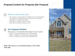 Proposal Context For Property Sale Proposal Ppt Powerpoint Presentation Layout