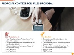 Proposal Context For Sales Proposal Ppt Powerpoint Presentation Slides Skills