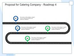 Proposal For Catering Company Roadmap Four Step Ppt Powerpoint Presentation Pictures Master Slide