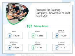 Proposal For Catering Company Showcase Of Past Event Award Ppt Powerpoint Presentation Elements