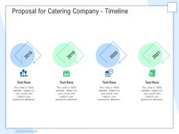Proposal For Catering Company Timeline Ppt Powerpoint Presentation Inspiration Portfolio