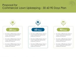 Proposal For Commercial Lawn Upkeeping 30 60 90 Days Plan Ppt Powerpoint Inspiration