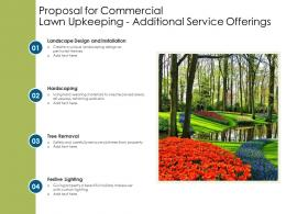 Proposal For Commercial Lawn Upkeeping Additional Service Offerings Ppt Powerpoint Model