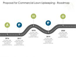 Proposal For Commercial Lawn Upkeeping Roadmap Ppt Powerpoint Presentation Pictures Brochure