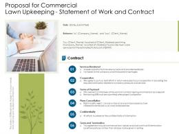 Proposal For Commercial Lawn Upkeeping Statement Of Work And Contract Ppt Powerpoint Format