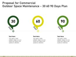 Proposal For Commercial Outdoor Space Maintenance 30 60 90 Days Plan Ppt Powerpoint Skills