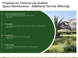 Proposal For Commercial Outdoor Space Maintenance Additional Service Offerings Ppt Ideas
