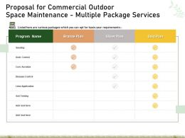 Proposal For Commercial Outdoor Space Maintenance Multiple Package Services Ppt Example