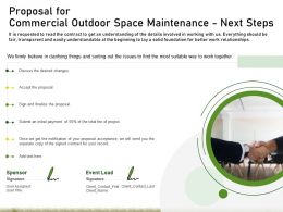 Proposal For Commercial Outdoor Space Maintenance Next Steps Ppt Powerpoint Outline
