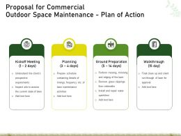 Proposal For Commercial Outdoor Space Maintenance Plan Of Action Ppt Powerpoint Graphics