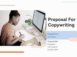 Proposal For Copywriting Powerpoint Presentation Slides
