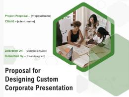 Proposal For Designing Custom Corporate Presentation Powerpoint Presentation Slides