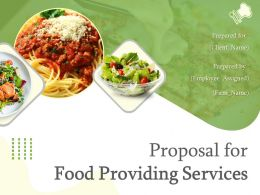 Proposal For Food Providing Services Powerpoint Presentation Slides