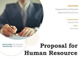 Proposal For Human Resource Powerpoint Presentation Slides