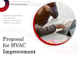 Proposal For HVAC Improvement Powerpoint Presentation Slides