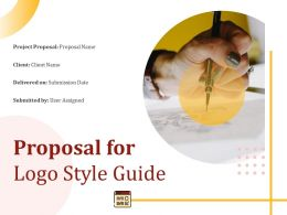 Proposal For Logo Style Guide Powerpoint Presentation Slides
