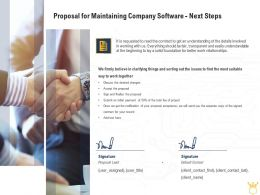 Proposal For Maintaining Company Software Next Steps Ppt Powerpoint Graphic