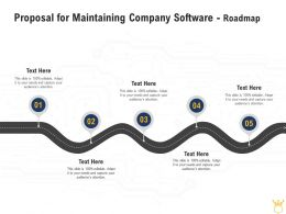 Proposal For Maintaining Company Software Roadmap Ppt Powerpoint Rules
