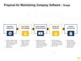 Proposal For Maintaining Company Software Scope Ppt Powerpoint Gridlines