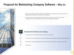 Proposal For Maintaining Company Software Why Us Ppt Powerpoint Design