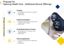Proposal For Opening Health Club Additional Service Offerings Ppt Powerpoint Themes