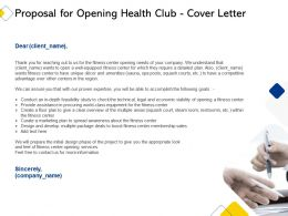 Proposal For Opening Health Club Cover Letter Ppt Powerpoint Presentation Layouts