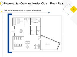 Proposal For Opening Health Club Floor Plan Ppt Powerpoint Presentation Gallery Icon