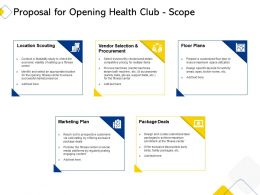 Proposal For Opening Health Club Scope Ppt Powerpoint Presentation Model Inspiration